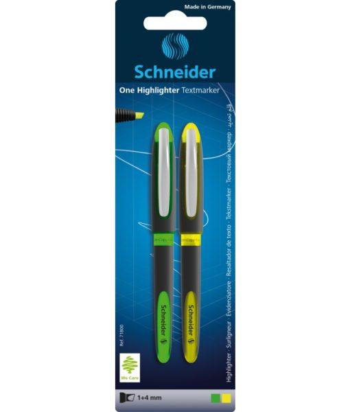 blister-textmarker-schneider-one